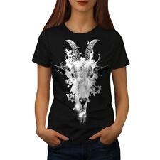 Paint Drop Goat Face Women T-shirt S-2XL NEW | Wellcoda