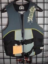 NOS Yamaha Men's X Small Neoprene 2-Buckle PFD Life Vest MAR-07VNE-GY-XS