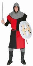 Waffenrock Ritter Kostüm rot-schwarz NEU - Herren Karneval Fasching Verkleidung