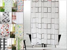 Peva tenda della doccia 9 Designs A SCELTA 180x200 GRIGIO BIANCO BLU Bambù