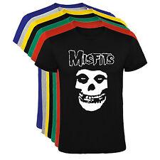 Camiseta Misfits musica bandas Hombre varias tallas y colores a084