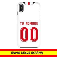 Funda Movil Apple Iphone Camiseta Futbol Sevilla FC Nombre Numero Dibujo