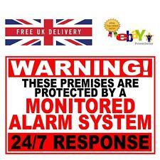 Monitored Alarm System 24/7 Warning Sign - 3mm Aluminium Composite  Weatherproof