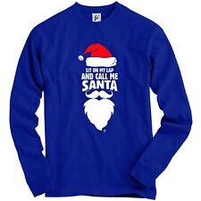 Siedi sulle gambe e chiamami Babbo Natale Adulto Christmas Jumper Felpa