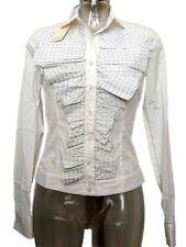 Camicia donna Antonio Berardi Tg. IT 42 Bianco Nero Stretch Shirt Original New