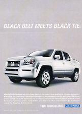 2008 Honda Ridgeline Truck - Black Tie - Classic Vintage Advertisement Ad D94