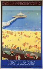 TX250 Vintage 1930's Scheveningen Holland Travel Poster Re-Print A1/A2/A3/A4
