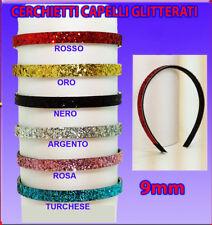 Cerchietti Capelli glitterati  Colorati universale