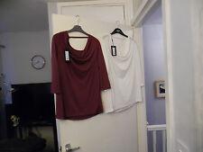 Biba Burnout cowl back t-shirt RRP-£30.00