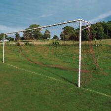 Blue & Red Striped Full Size Football Goal Nets - [Net World Sports]