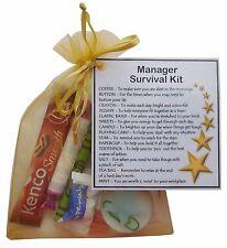 Manager, Assistant Manager, Boss, Supervisor Survival Kit Gift for secret santa