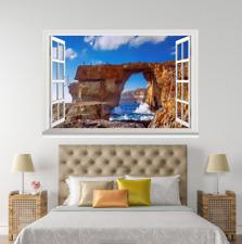 3D Waves Coastal 20 Open Windows WallPaper Wandbilder Wall Print AJ Jenny