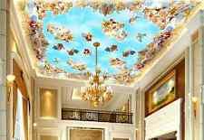 3D Engel Dach Malerei Fototapeten Wandbild Fototapete Bild Tapete Familie Kinder
