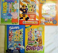 Sticker Paradise 6 Sheets & Album Bob the Builder Peppa Pig Fireman Sam Smurfs