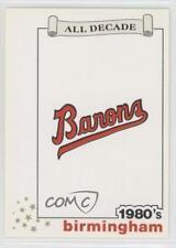 1990 Best All Decade #34 Birmingham Barons Team Baseball Card
