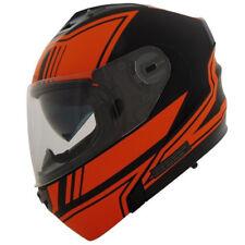 Vega Vertice Modular Flip Up Motorcycle Helmet Optic Orange Adult Sizes