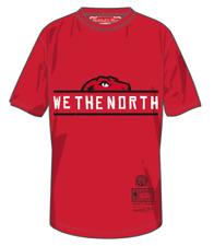 Men's Toronto Raptors Mitchell Ness Red We The North Half Head Red T Shirt