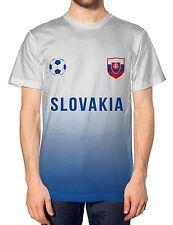 Slovakia Home Football Nation Fade Tshirt Mens Shirt Jersey Sport World Euros