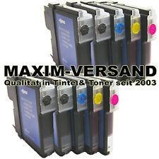 XL Farb-Patronen Set 10x Druckerpatrone für Brother DCP-165C DCP165C DCP165