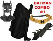 Batman Begins The Dark Knight Rises costume cowl mask, cape, belt TDK TDKR