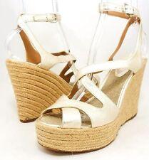 $286 ELIE TAHARI PAULETTE Espadrille Wedge Sandals Ankle Strap Womens Shoes 10