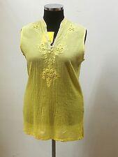 Tunika-Bluse-Damen, FULLFASHION,  Batik, V-Ausschnitt, Stickerei, Perlen, 4 Knöp