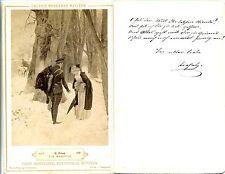 CDV- Foto-Franz Hanfstangl--München-Ein Abschied-R.Haug-um 1890-