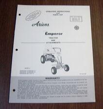 ARIENS EMPEROR LAWN TRACTOR 3M-L40 -L60 -L60D -L60E -L60DE OPERATOR/PARTS MANUAL