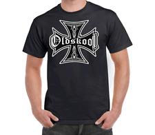 OLDSKOOL IRON CROSS T-SHIRT T SHIRT CLOTHING APPAREL HOT ROD ROCKABILLY TSHIRT