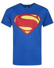 Superman Logo Men's Blue Cotton T-Shirt Sizes S M L XL XXL