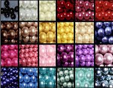 Azul//violeta acrílico redonda granos 8mm 100 piezas Perlado Arte Hobby fabricación de joyas