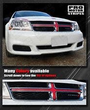 Dodge Avenger 2008-2014 Front Grill Cross Insert Overlay Stripe (Choose Color)