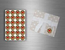 24/48/72/96x sticker adesive etichette handmade with love scrapbooking etichetta