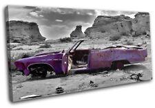 Decayed Car Purple Urban SINGLE TOILE murale ART Photo Print