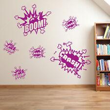 Bang Crash Cartoon BOMBA ESPLOSIONE Bambini Adesivi Murali Bambini Decalcomania A21