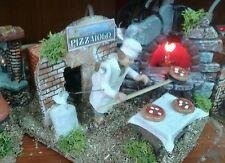 Pizzaiolo pastore in movimento 7 cm presepe crib Shepherd