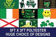 5ft x 3ft IRISH FLAG WITH EYLETS PREMIUM QUALITY CHOSE YOUR DESIGN