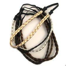 Long Synthetic Hair Plait Plaited Band Elastic Braided Band Kylie Headbands