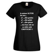 In meinem Alter hat man..., lustiges Sprüche T-Shirt, Damen Funshirt (GO131)