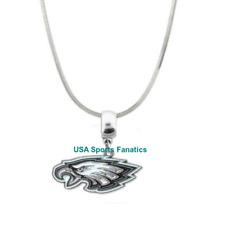 NFL Philadelphia Eagles Logo Pendant Necklace 925 Sterling Silver Snake Chain