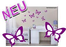 Wandtattoo Schmetterlinge verschiedene Sets auch als Autoaufkleber Butterfly WOW