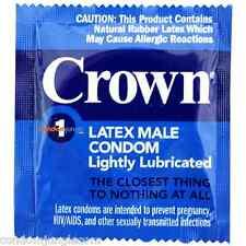 Crown Skinless Skin Lightly Lubricated Latex Male Condoms (Bulk Pack)