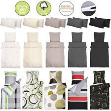 Renforce Bettwäsche 135x200 155x220 cm Bettbezug Bettgarnitur Kissen Kopfkissen