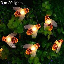 Bee LED String Light Outdoor Garden Christmas Party Fairy Lamps For Home DecorUK