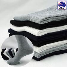 2 4 8 Pairs Men Bamboo Fiber Socks Sock Black White Grey Above Ankle CSOCK79