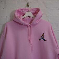 Biggie x Jordan Mic Slam Dunk HipHop Notorious BIG Pink Hooded Sweatshirt Hoodie