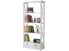 Regal Bücherregal Standregal Holzregal mit Schublade 180 cm Kiefer weiß Landhaus
