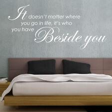 I Am Beside You citations murales mots mural autocollants W35
