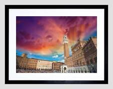 Foto Cityscape Piazza del Campo SIENA ITALIA Nero Framed Art Print b12x13032