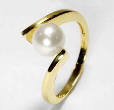 ECHT GOLD *** Perlen Ring, Größenauswahl